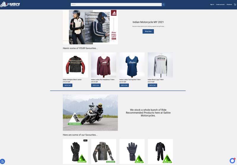 Saltire Motorcycles Online Shop